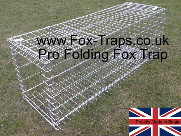 Pro Collapsible fox trap, folding professional fox cage trap. can be folded when not required.